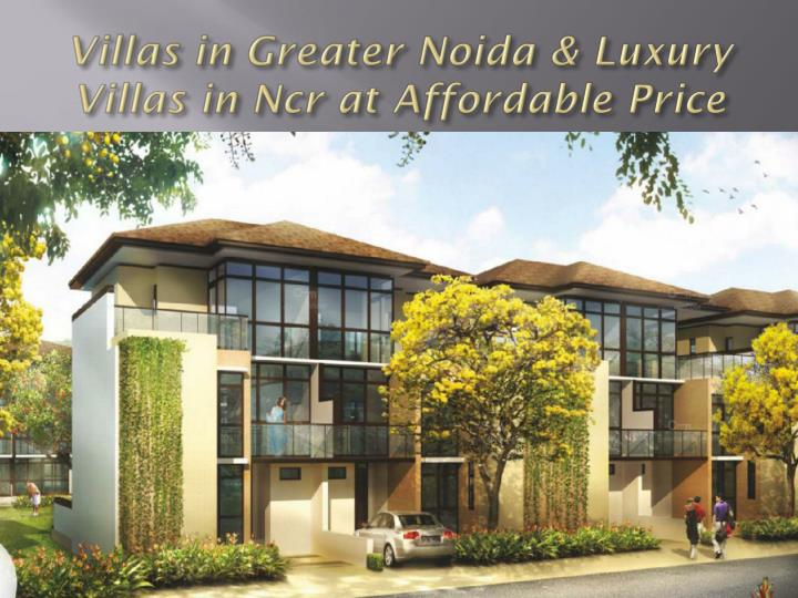 Villas in greater noida luxury villas in ncr at affordable price
