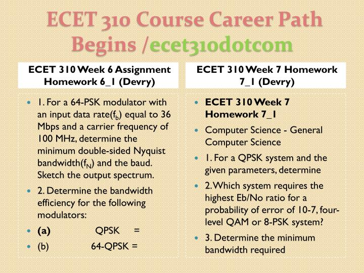 ECET 310 Week 6 Assignment Homework 6_1 (Devry)