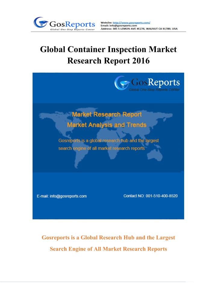 Global Container Inspection Market