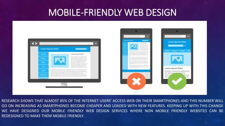 Mobile-friendly web design