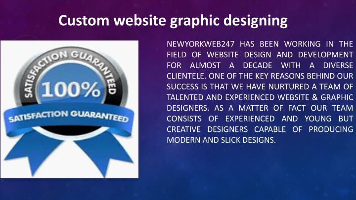 Custom website graphic designing
