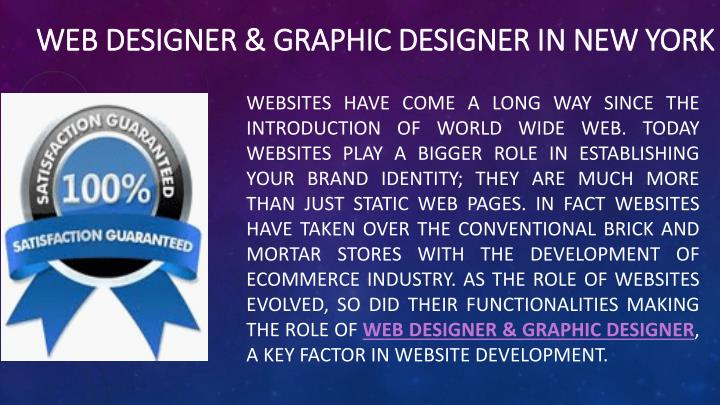 Web designer graphic designer in new york