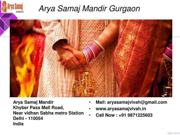 Arya Samaj Mandir Gurgaon