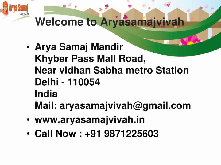 Welcome to aryasamajvivah