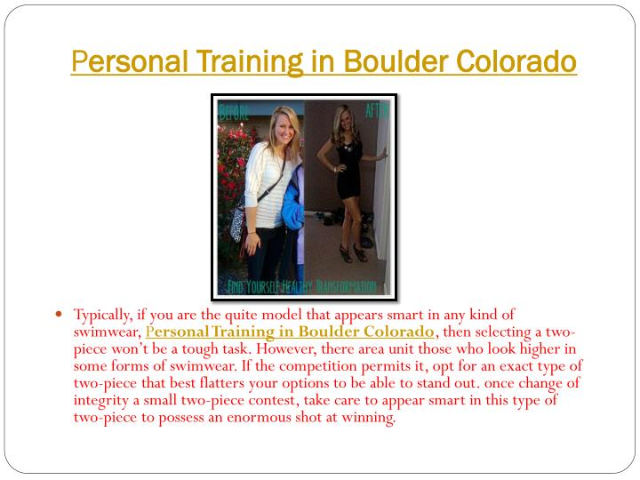 P ersonal training in boulder colorado