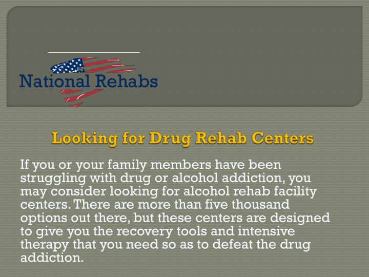 Looking for drug rehab centers