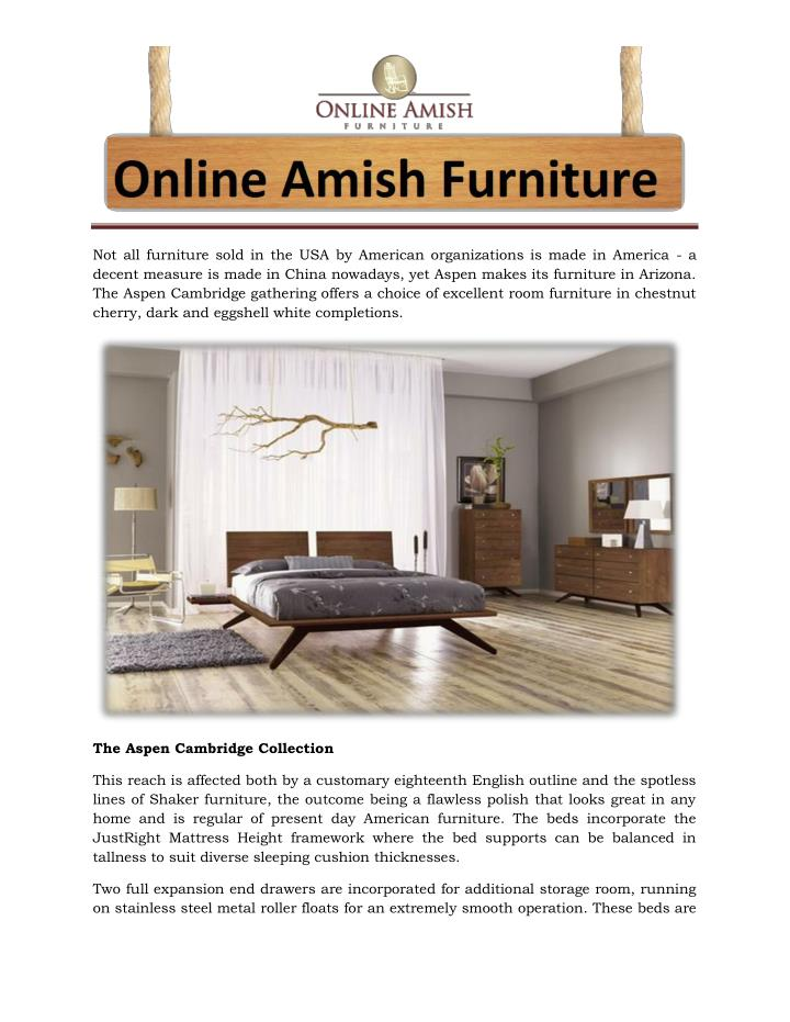 Not all furniture sold in the USA by American organizations is made in America - a