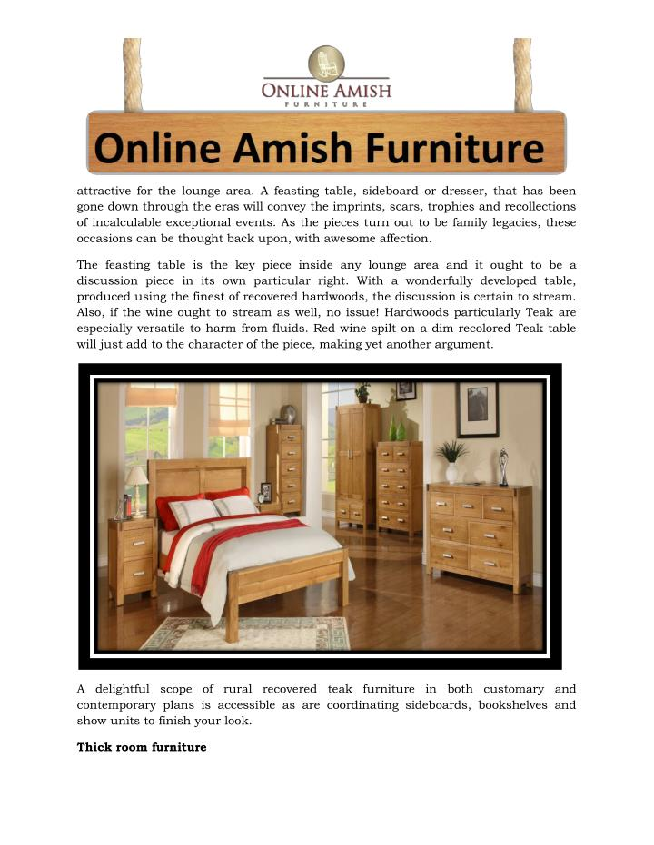 Ppt Chunky Furniture The Benefits Of Filling Your Home With Solid Wood Furniture Powerpoint