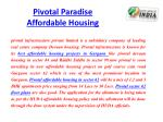 pivotal paradise affordable housing