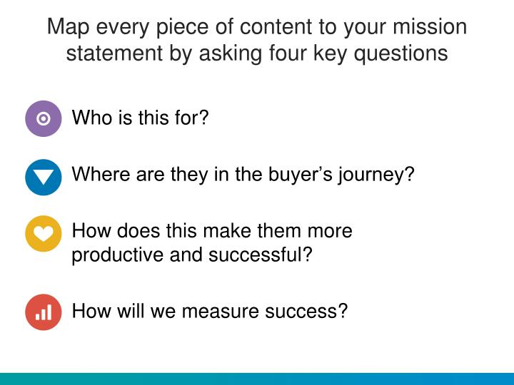 Map every piece of content to your mission