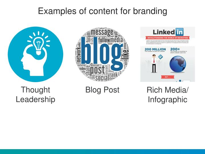 Examples of content for branding