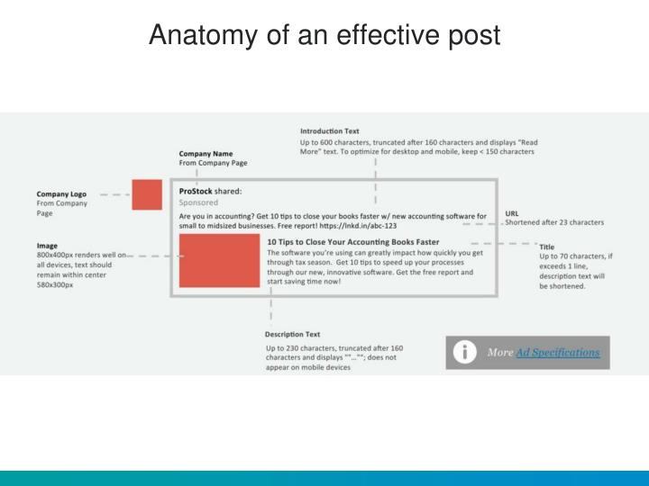 Anatomy of an effective post