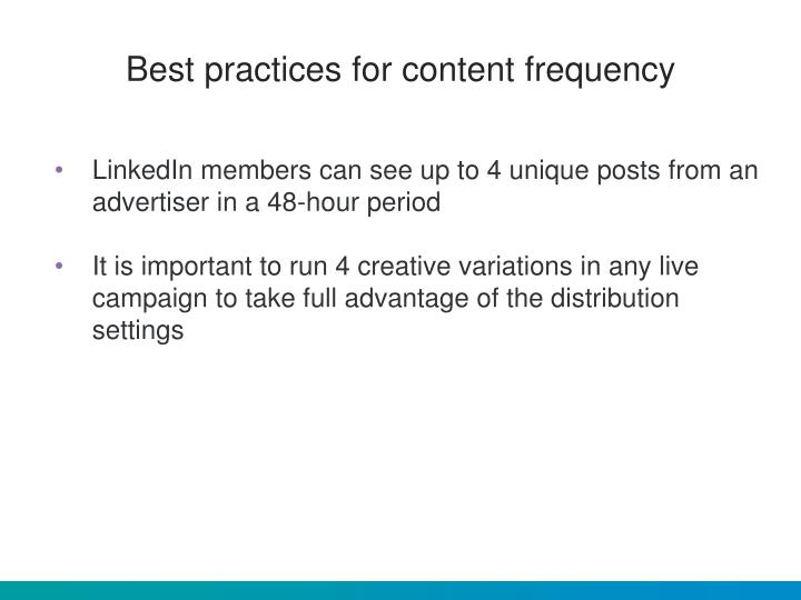 Best practices for content frequency