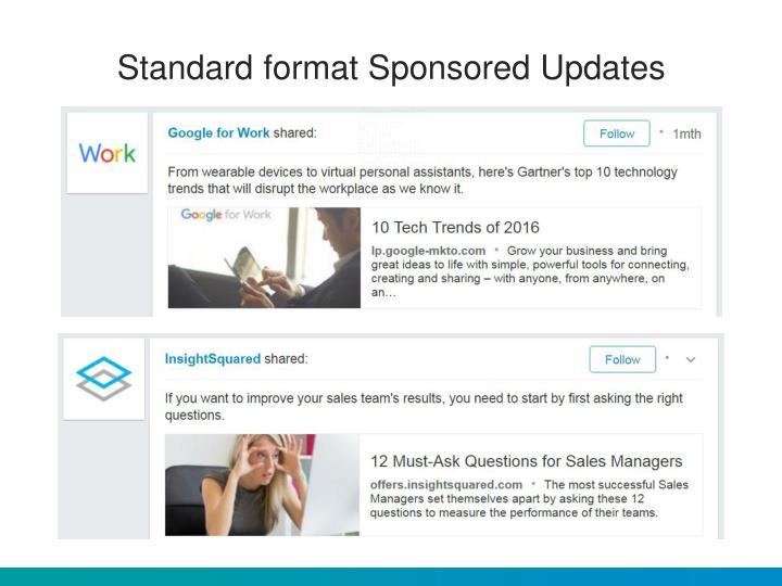Standard format Sponsored Updates