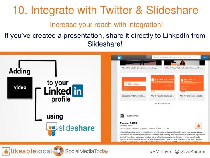10. Integrate with Twitter &