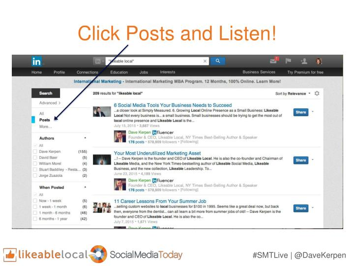 Click Posts and Listen!