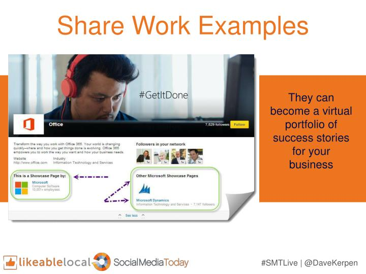 Share Work Examples