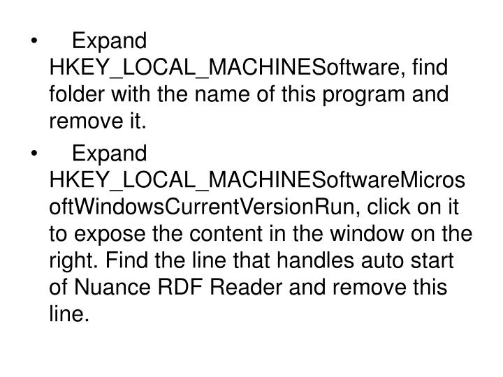 Expand HKEY_LOCAL_MACHINESoftware, find folder with the name of this program and remove it.