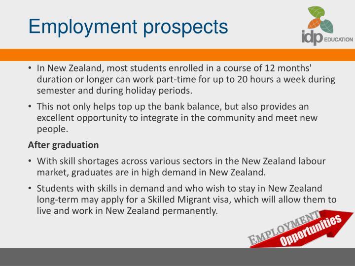 Employment prospects