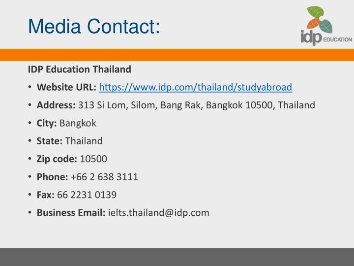 Media Contact: