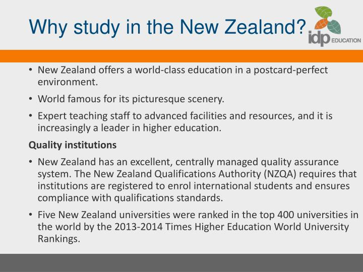 Why study in the New Zealand?