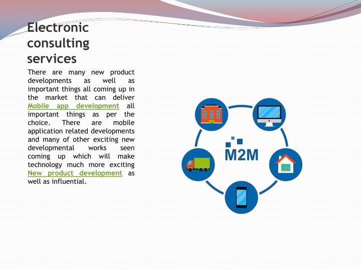 Electronic consulting services