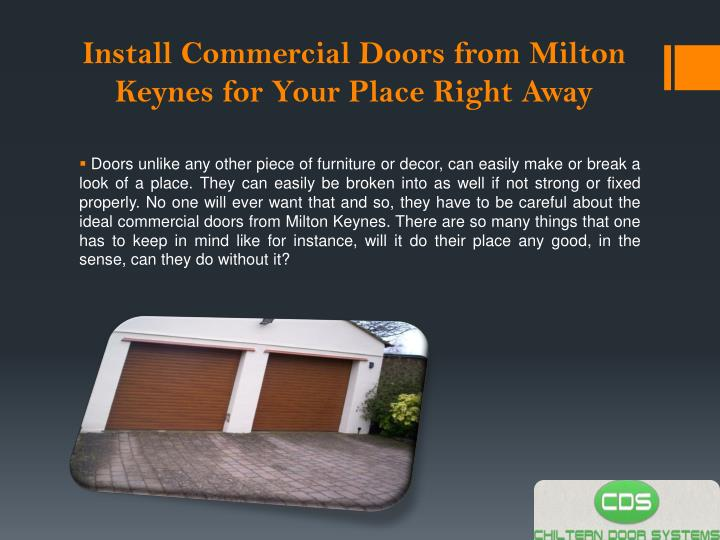 Install commercial doors from milton keynes for your place right away1