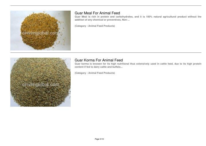 Guar Meal For Animal Feed