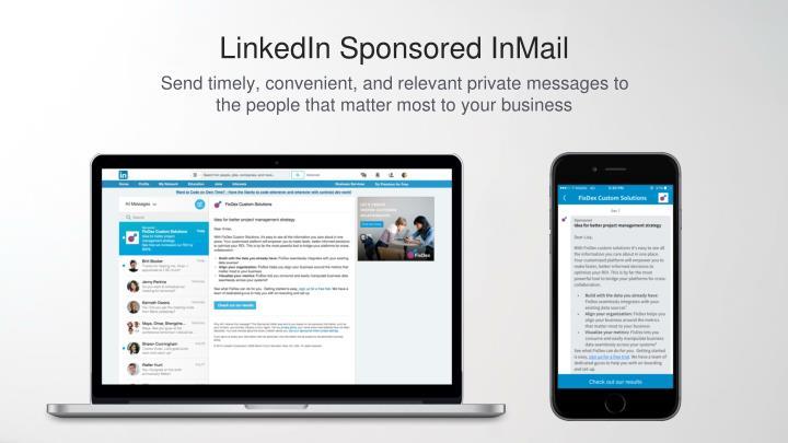 LinkedIn Sponsored InMail