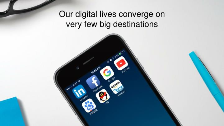Our digital lives converge on