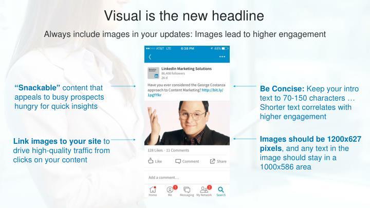 Visual is the new headline