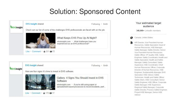Solution: Sponsored Content
