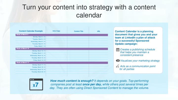 Turn your content into strategy with a content calendar