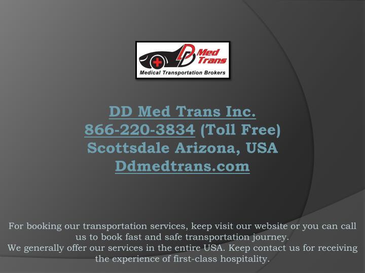 DD Med Trans Inc.