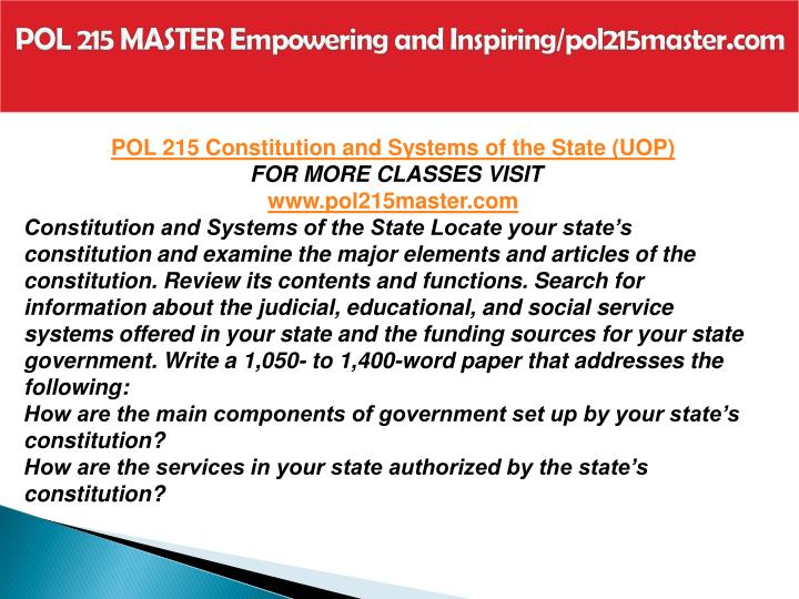 pol 215 government comparisons matrix Snaptutorial provides pol 215 pol 215 week 1 foundations of the us federal government worksheet (2 set) pol 215 roles within the state matrix.