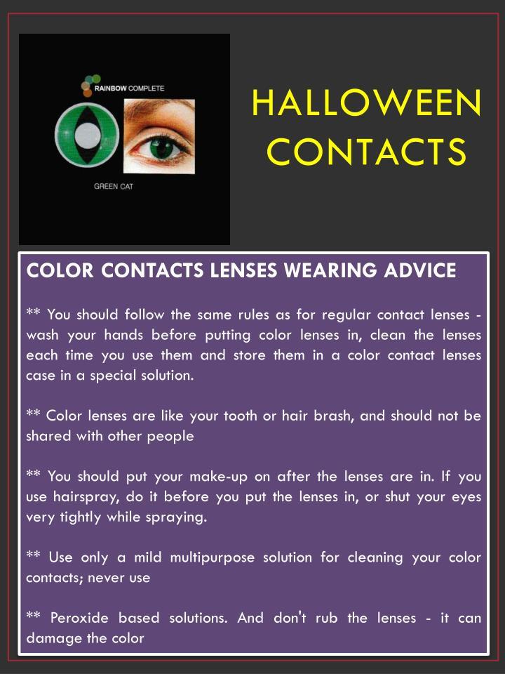 Halloween Contacts