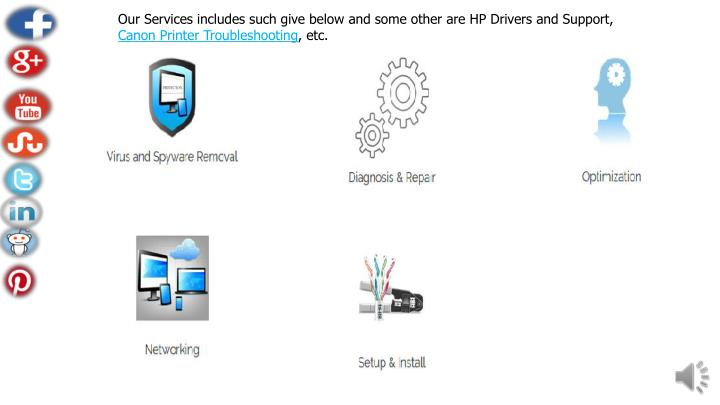 Our Services includes such give below and some other are HP Drivers and Support,
