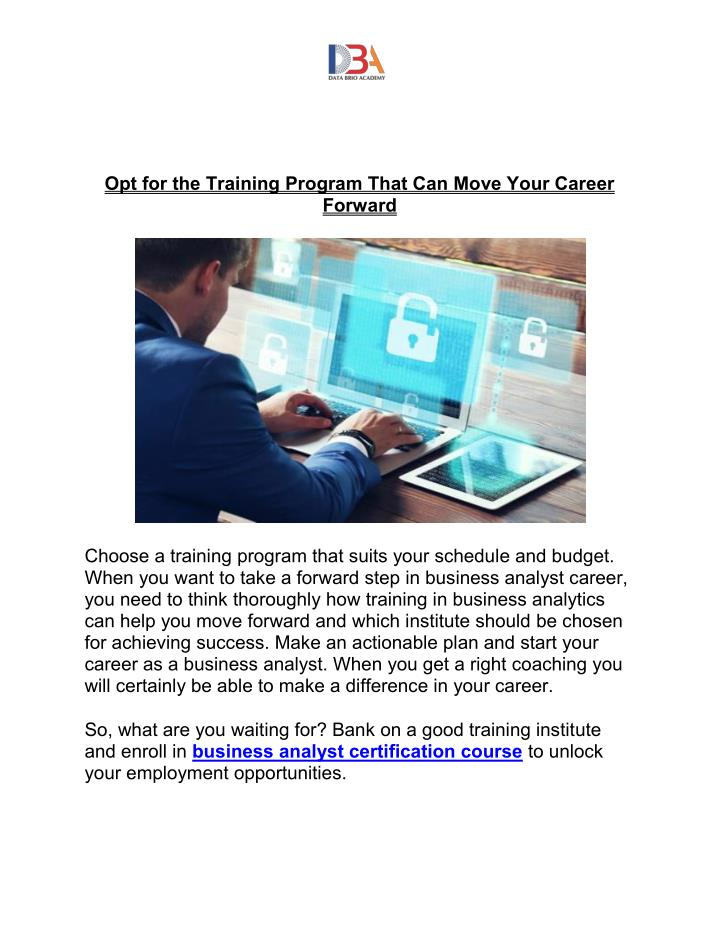 Opt for the Training Program That Can Move Your Career