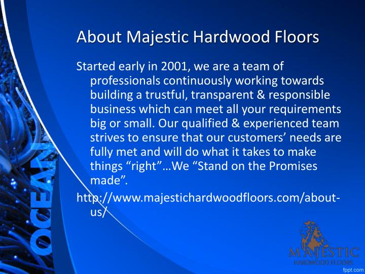 About majestic hardwood floors