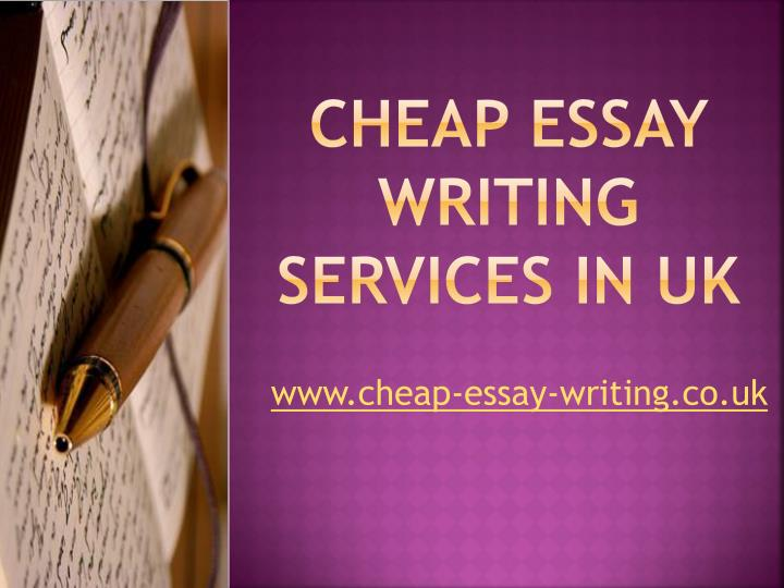 Cheap essay writing services in