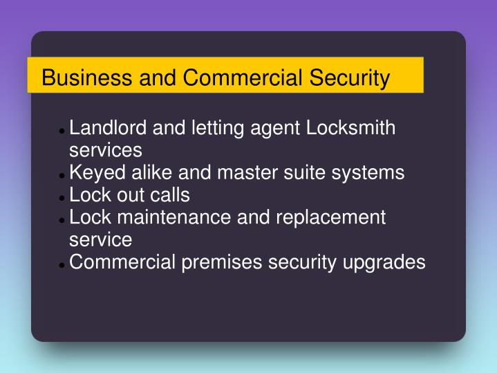 Business and Commercial Security