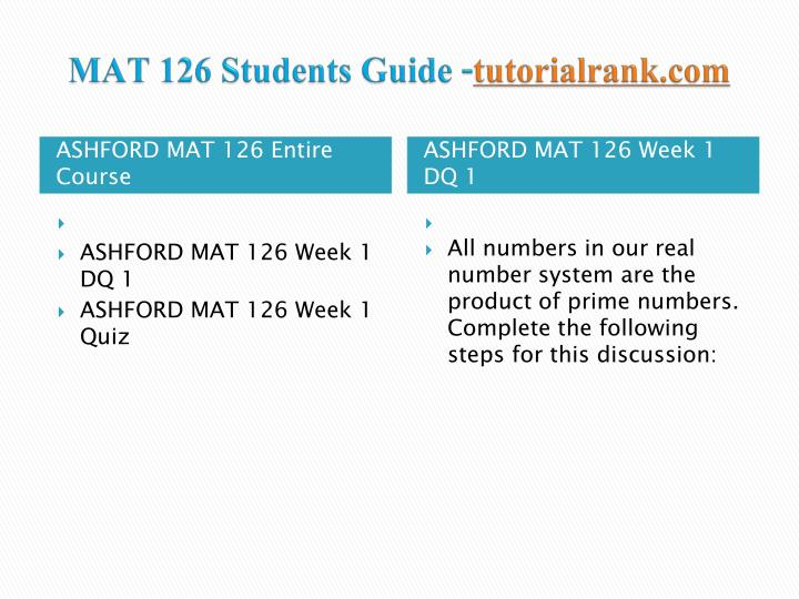 mat 126 week 4 quiz Mat 126 professor date week one  week 4 assignment pythagorean triples mat 126 week 4 quiz mat 126 week 5 dq 1 mat 126 week 5 assignment misinterpretation or.