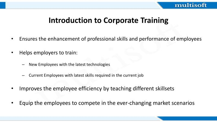 Introduction to corporate training