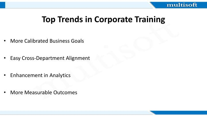 Top trends in corporate training