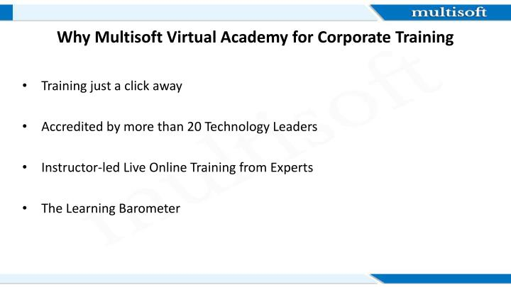 Why Multisoft Virtual Academy for Corporate Training