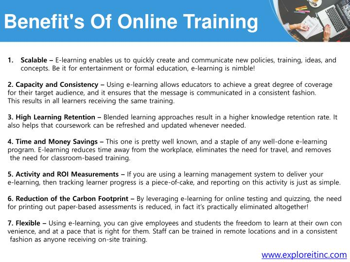 Benefit's Of Online Training