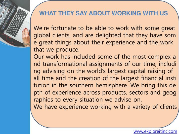 We're fortunate to be able to work with some great global clients, and are delighted that they hav...