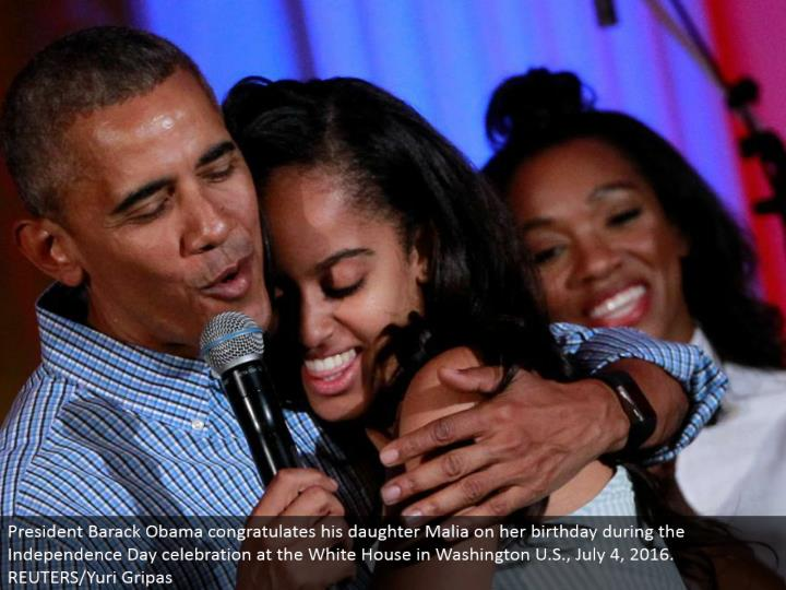 President Barack Obama praises his little girl Malia on her birthday amid the Independence Day festi...