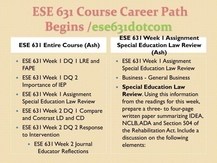 ESE 631 Entire Course (Ash)