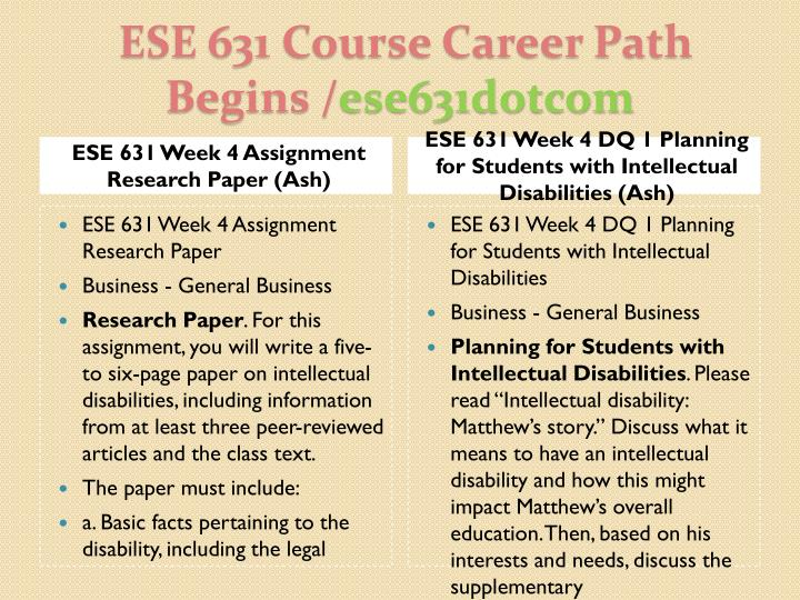 ESE 631 Week 4 Assignment Research Paper (Ash)